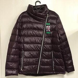 DKNY Women Deep Plum Ultralight Down Puffer Jacket